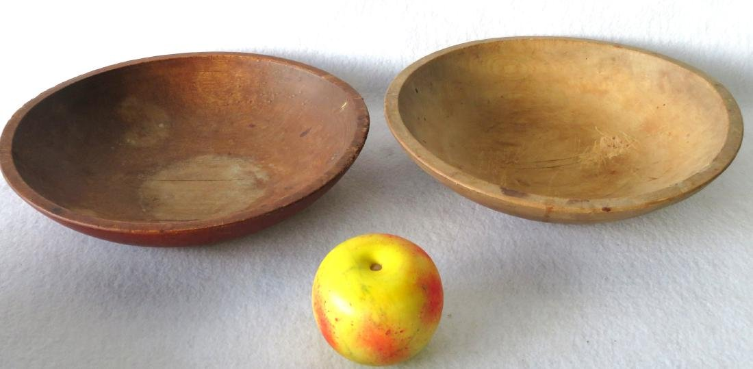 Five primitive turned bowls, 19th century, ranging in - 5