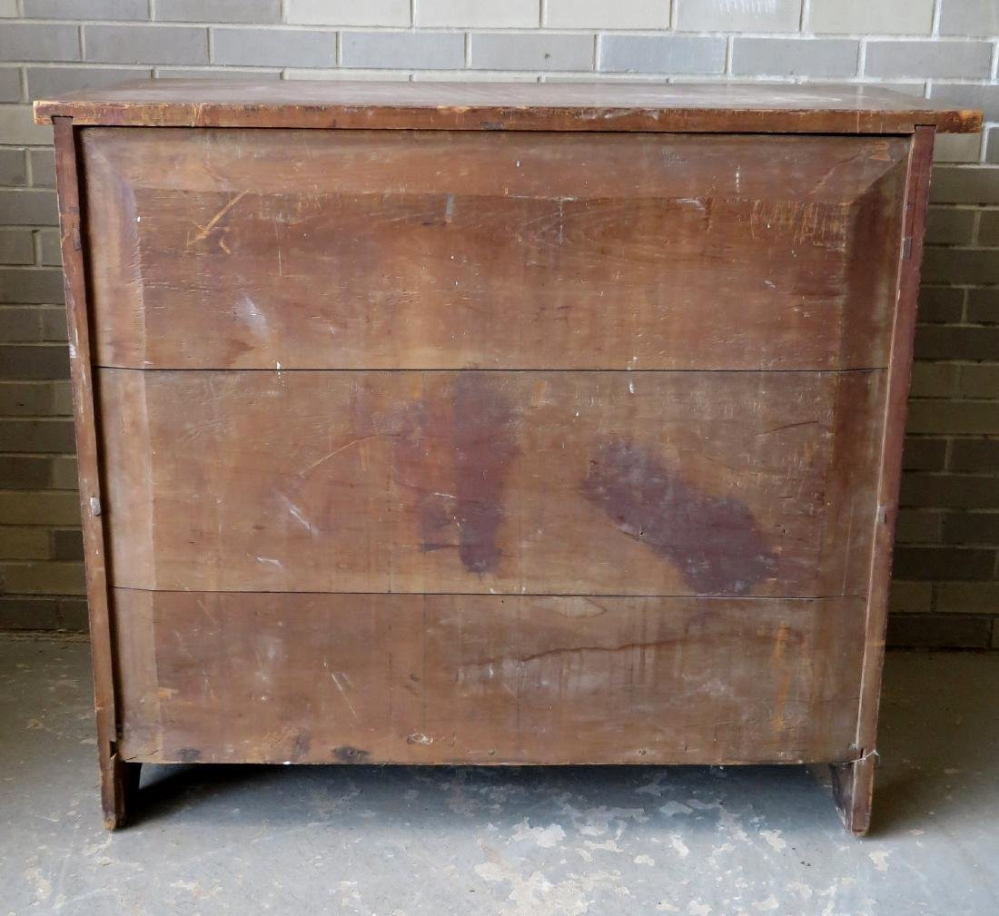 Grain painted cupboard having 2 drawers over 2 paneled - 8