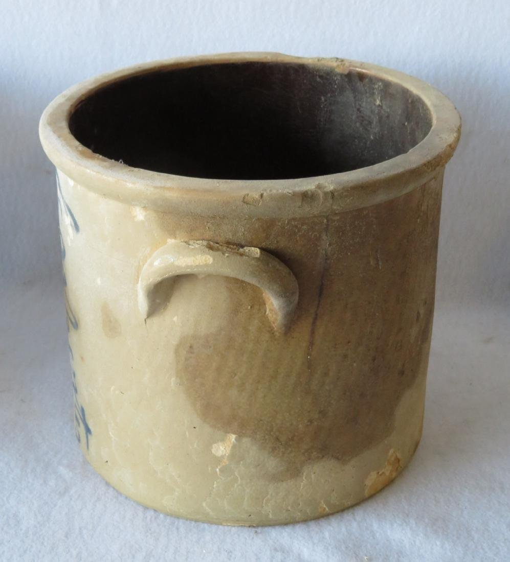 Three stoneware crocks including: 1) Signed Adam Caire - 6