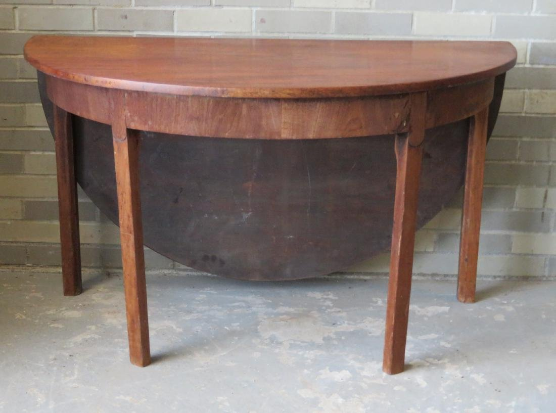 Chippendale mahogany game table with single drop leaf,