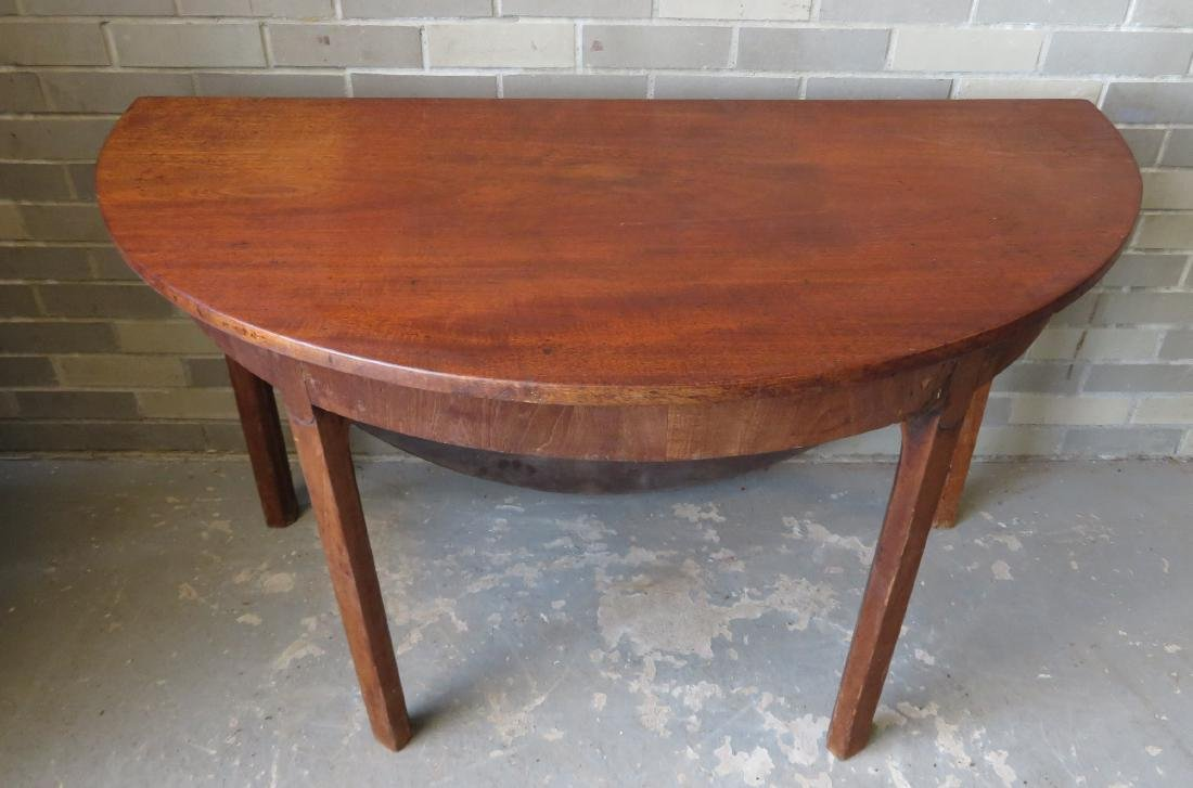 Chippendale mahogany game table with single drop leaf, - 2