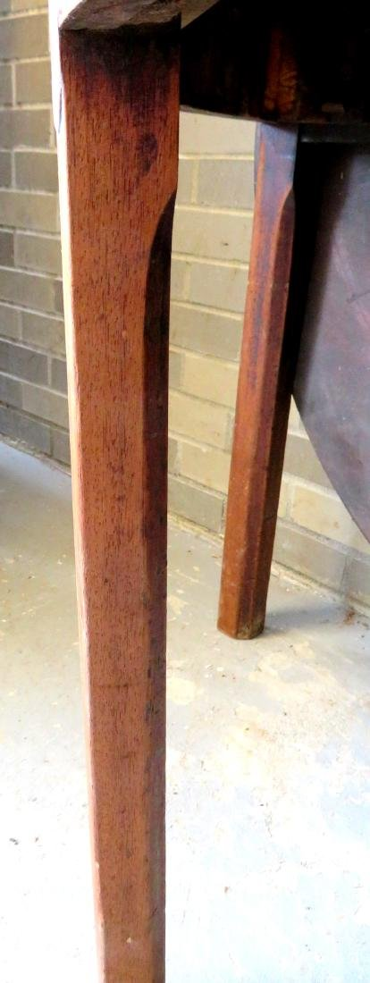 Chippendale mahogany game table with single drop leaf, - 4