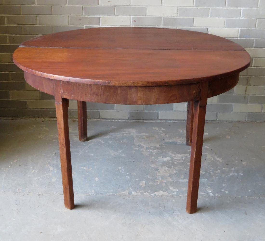 Chippendale mahogany game table with single drop leaf, - 5