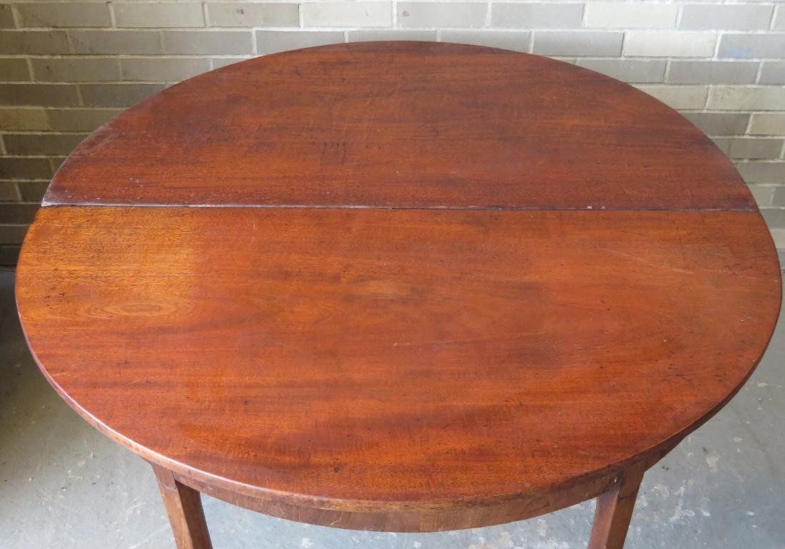 Chippendale mahogany game table with single drop leaf, - 6