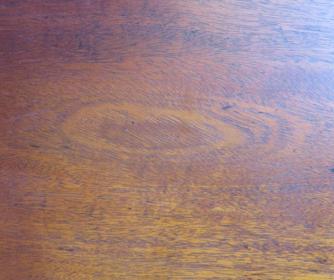 Chippendale mahogany game table with single drop leaf, - 7