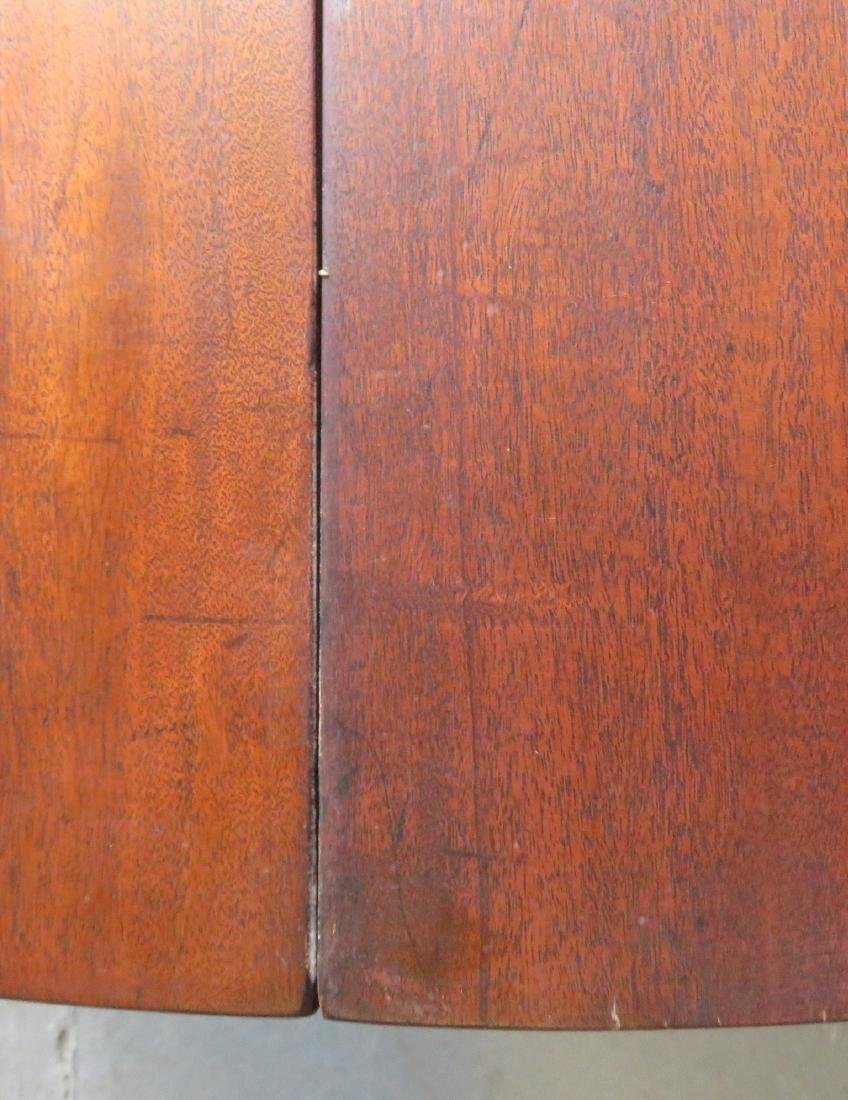 Chippendale mahogany game table with single drop leaf, - 8