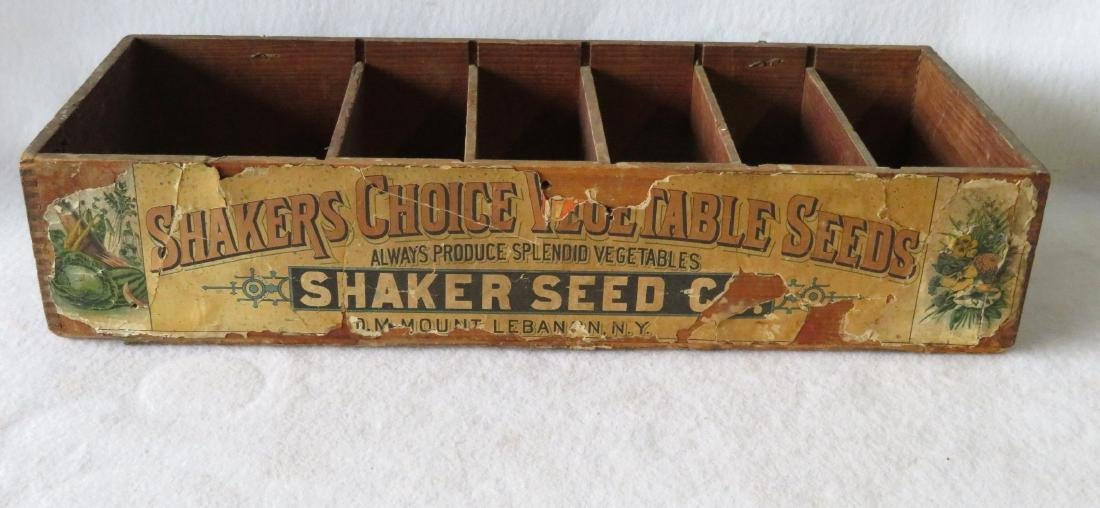 Two country items including a Shaker seed box from Mt. - 2