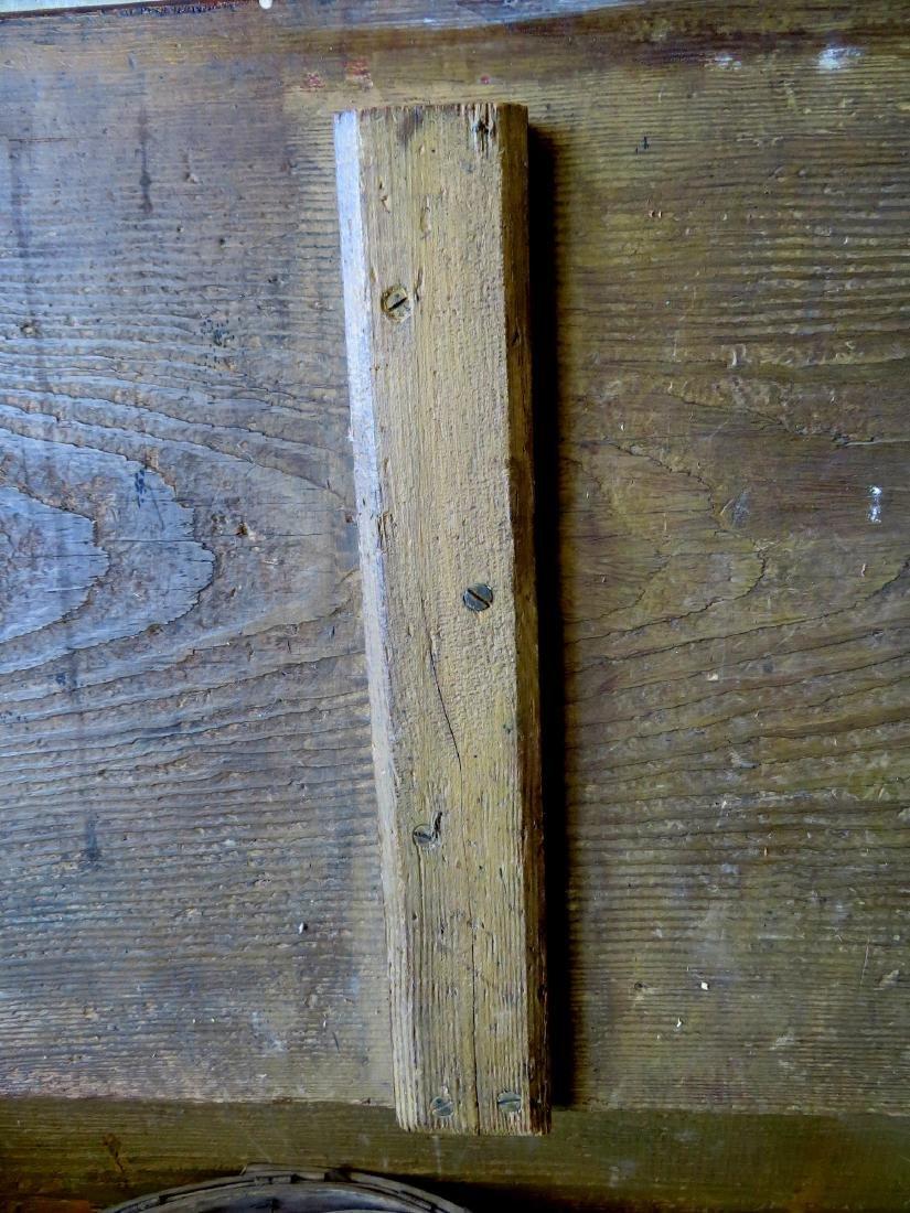 Mustard colored grain painted grain box on ball feet in - 4