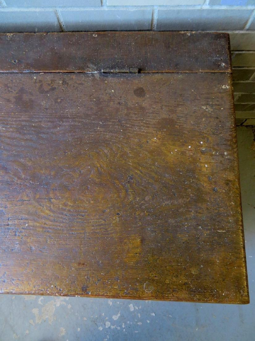 Mustard colored grain painted grain box on ball feet in - 5