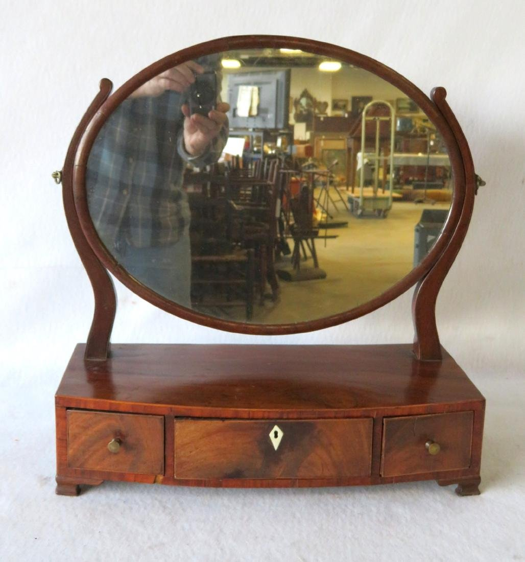 Early mahogany Chippendale dressing mirror, having an