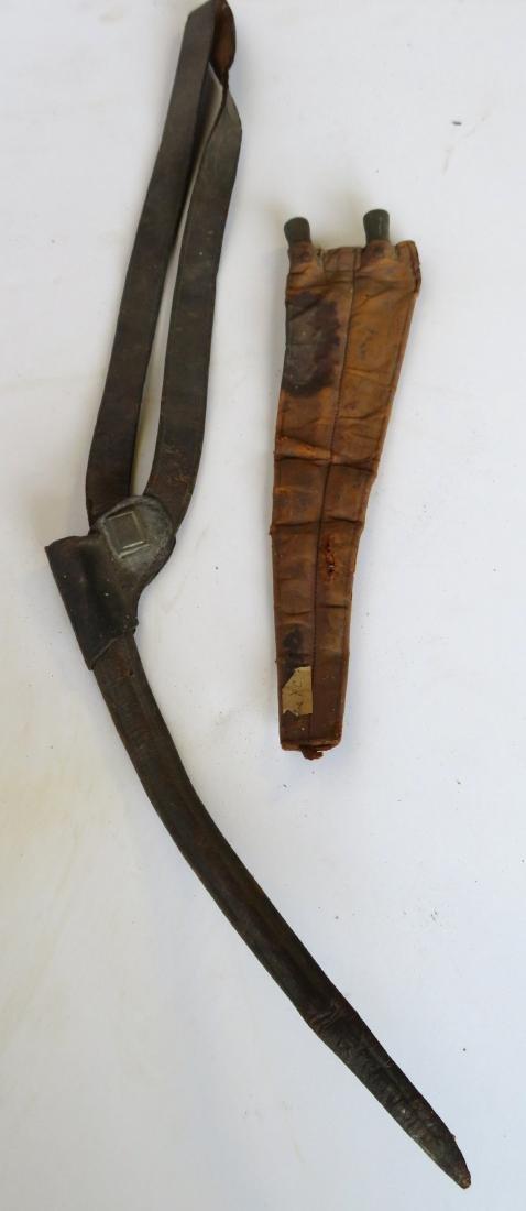 Three Civil War era crutches together with a 19th - 3