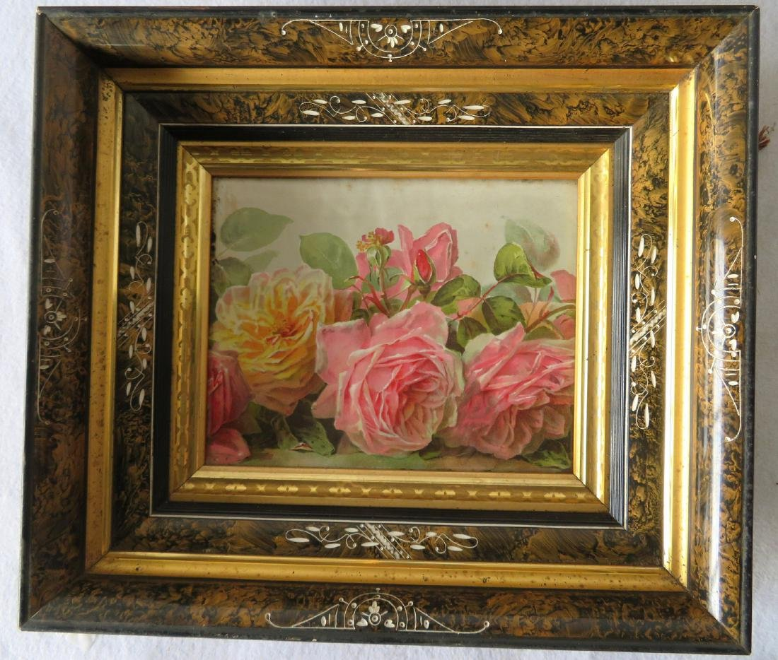Three beautiful Victorian picture frames, all with gold - 3