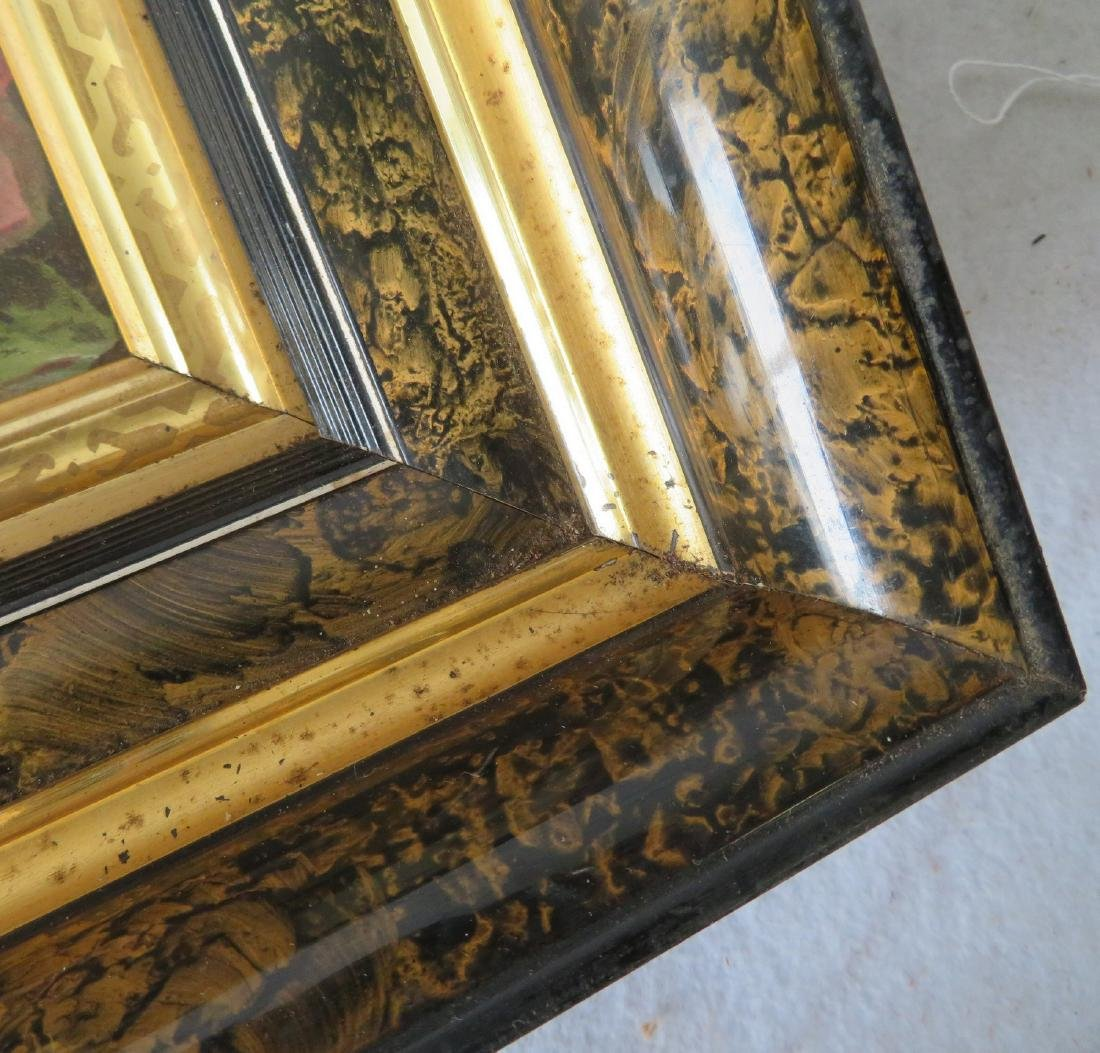 Three beautiful Victorian picture frames, all with gold - 4