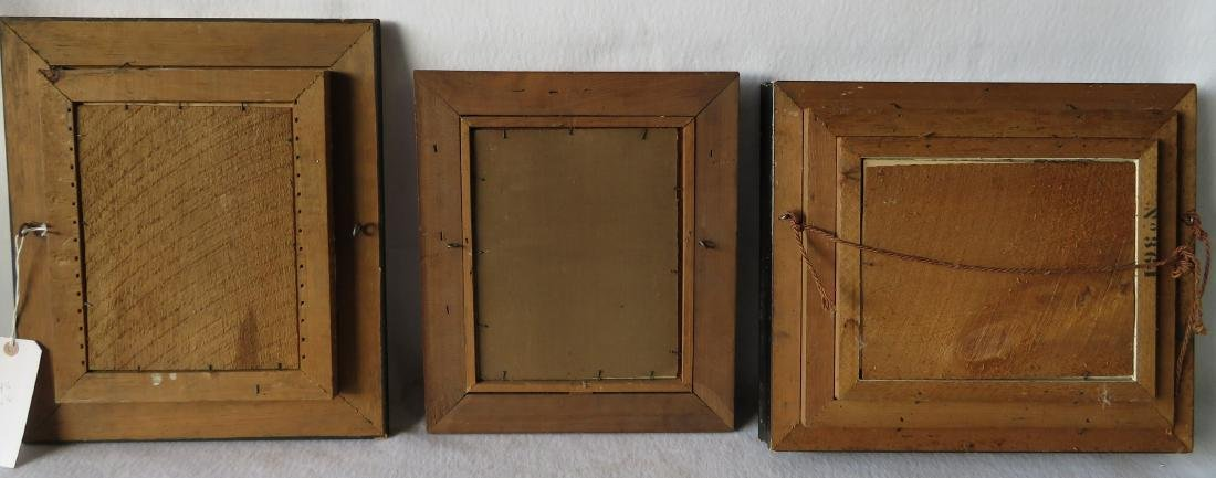 Three beautiful Victorian picture frames, all with gold - 9