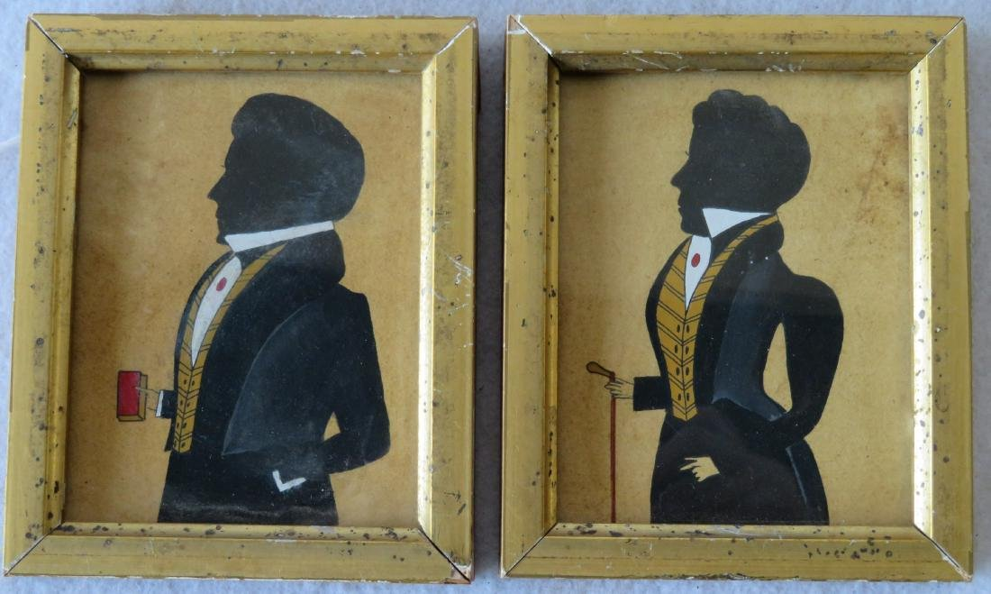 Two newer miniature 20th century silhouettes in 19th