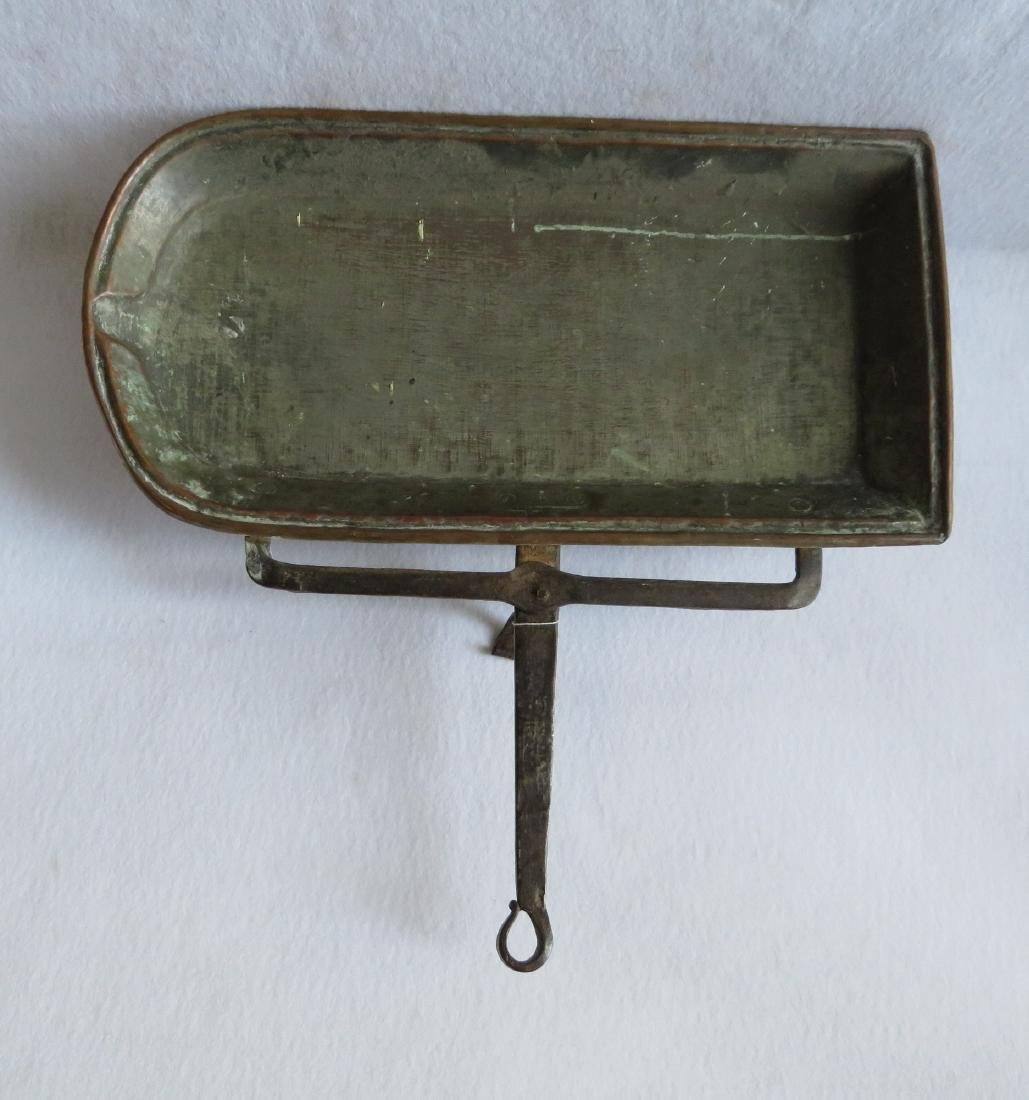 Early hand hammered copper roasting pan