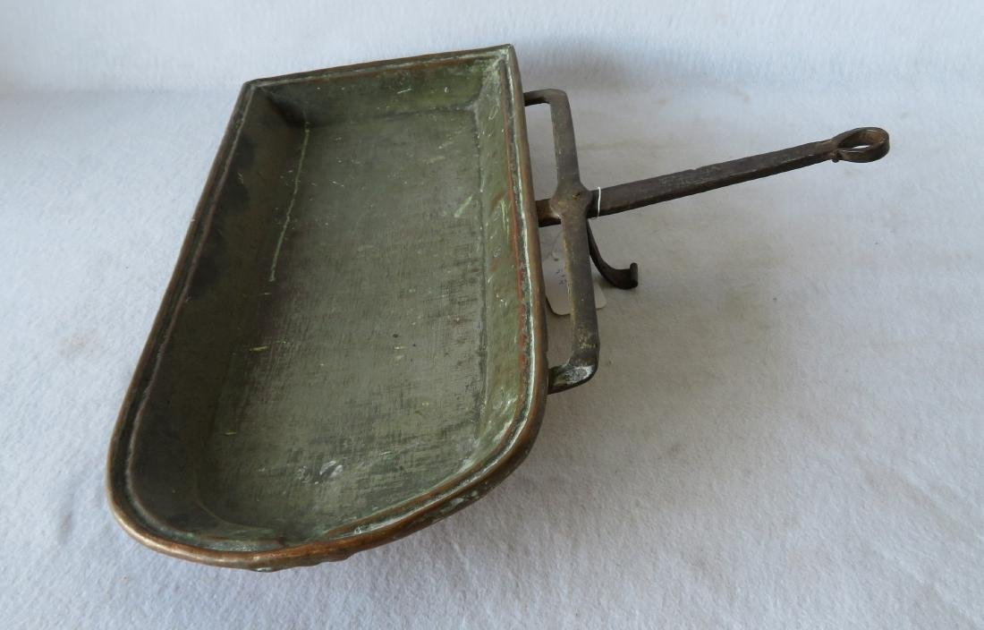 Early hand hammered copper roasting pan - 2