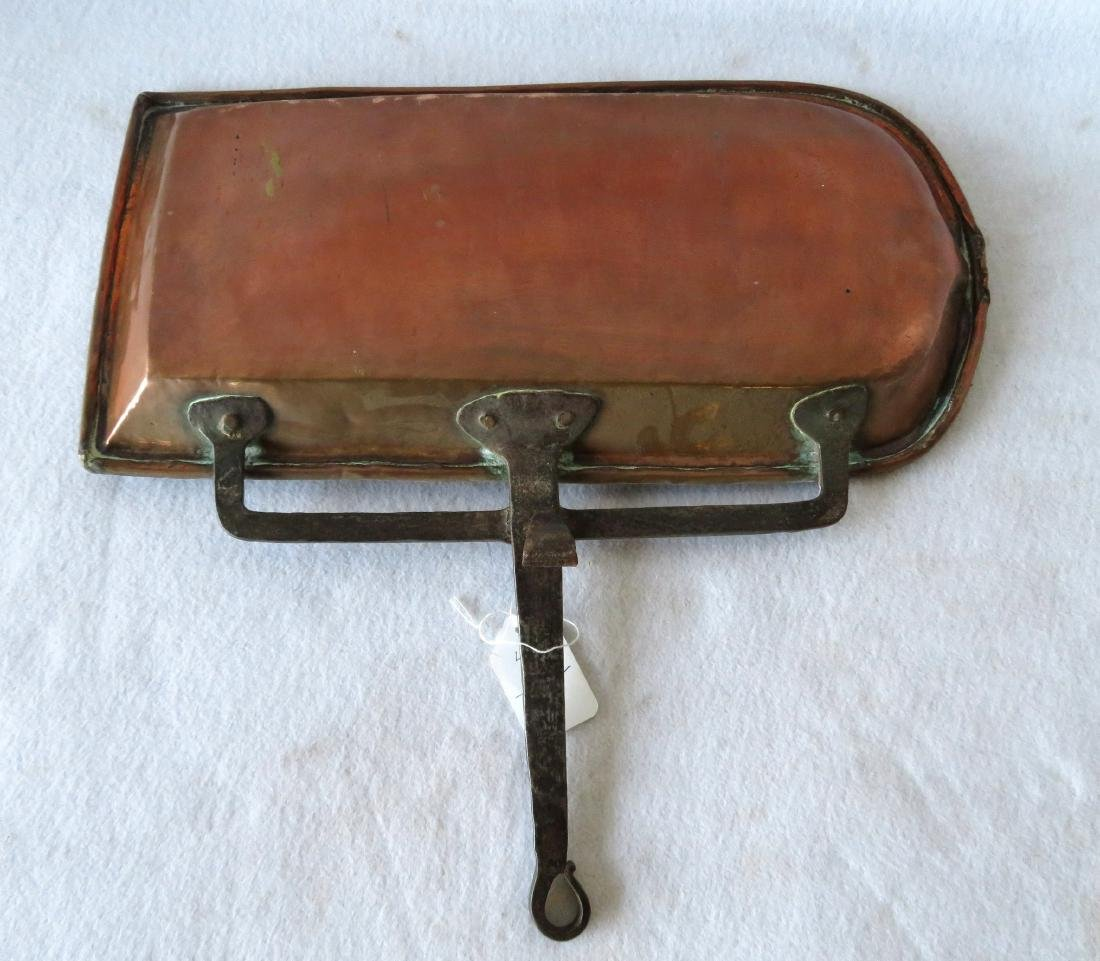 Early hand hammered copper roasting pan - 3