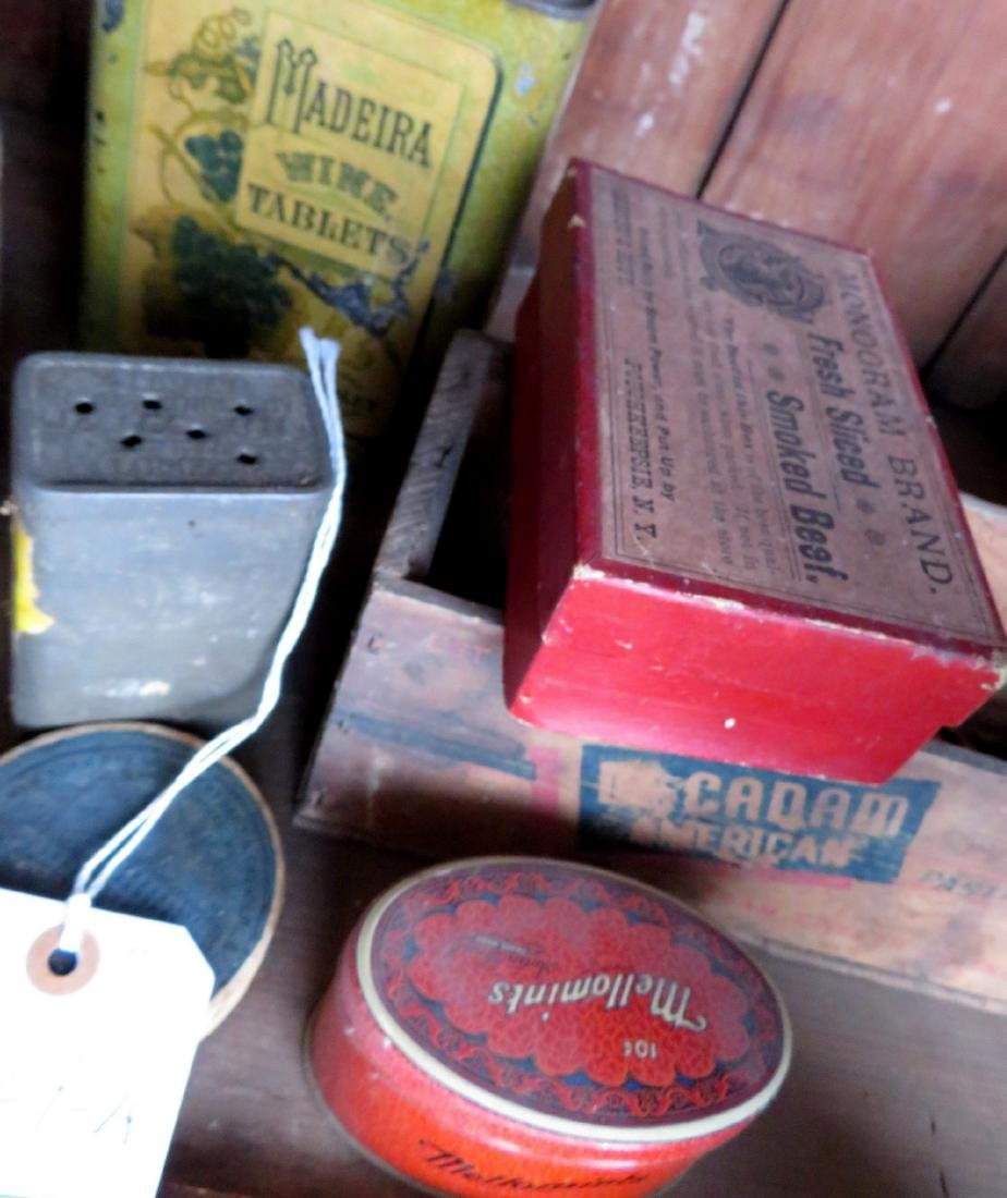 Large lot of advertising tins including Clay's Blend - 4