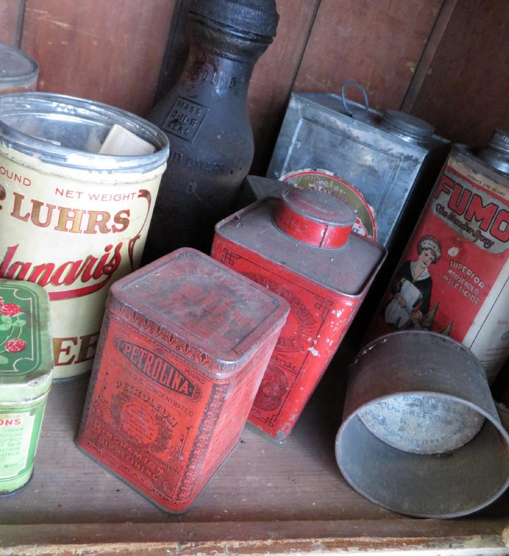 Large lot of advertising tins including Clay's Blend - 5