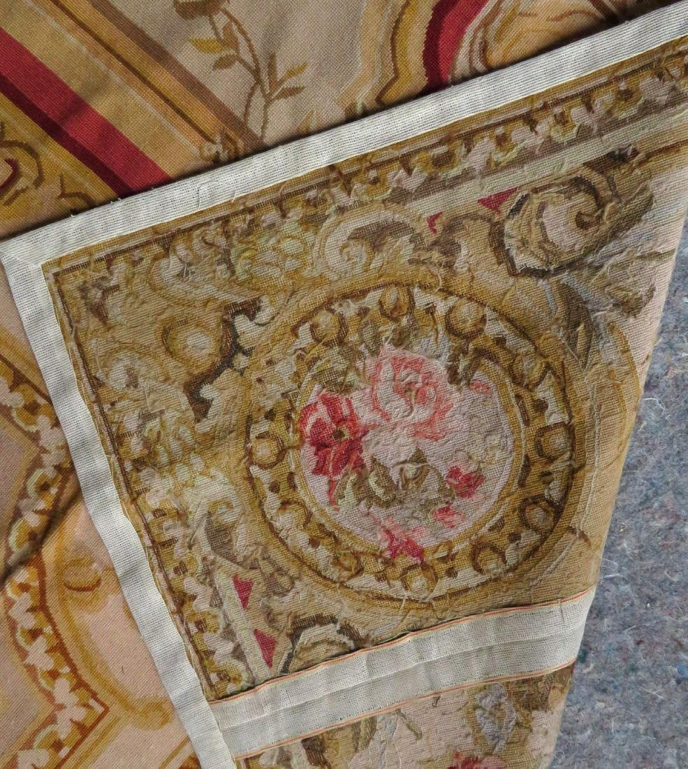 Classical aubusson-baroque style floral needlepoint - 9