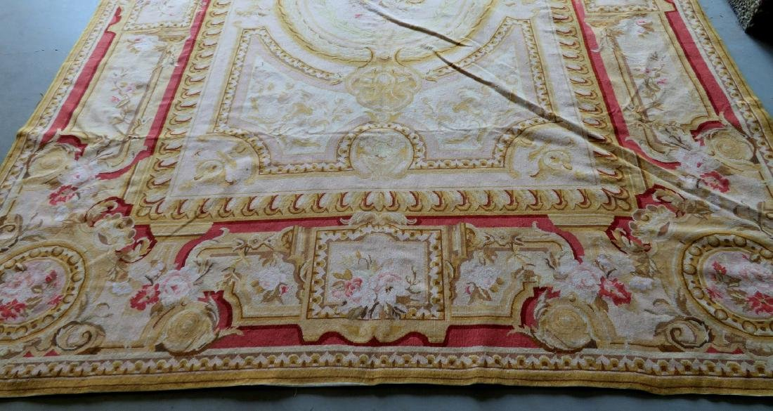 Classical aubusson-baroque style floral needlepoint - 8