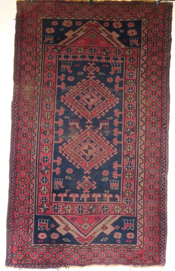 Oriental scatter rug, decorated with geometrics,