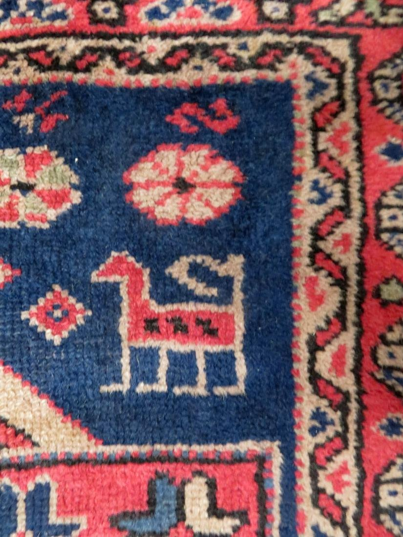 Oriental scatter rug, decorated with geometrics, - 4