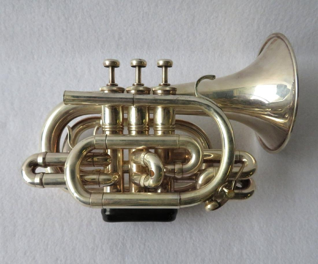 Pocket Trumpet - E. Benge - marked Resno-Tempered bell,