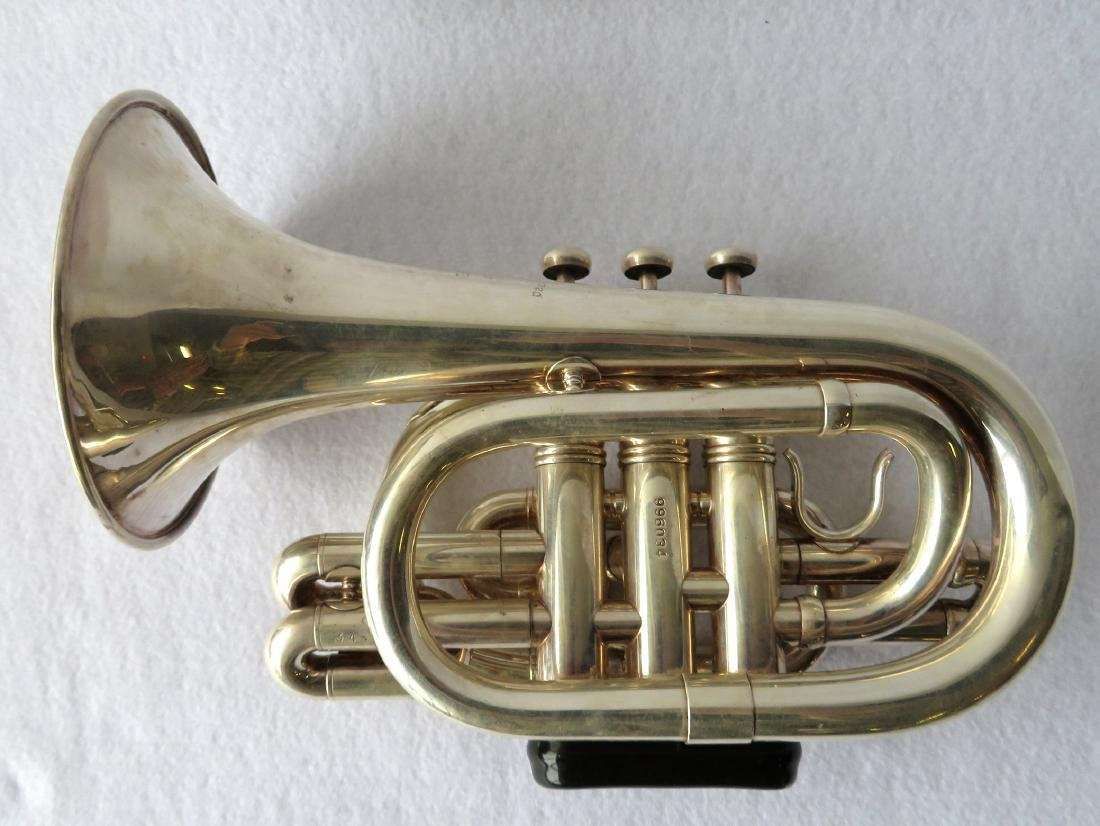 Pocket Trumpet - E. Benge - marked Resno-Tempered bell, - 2