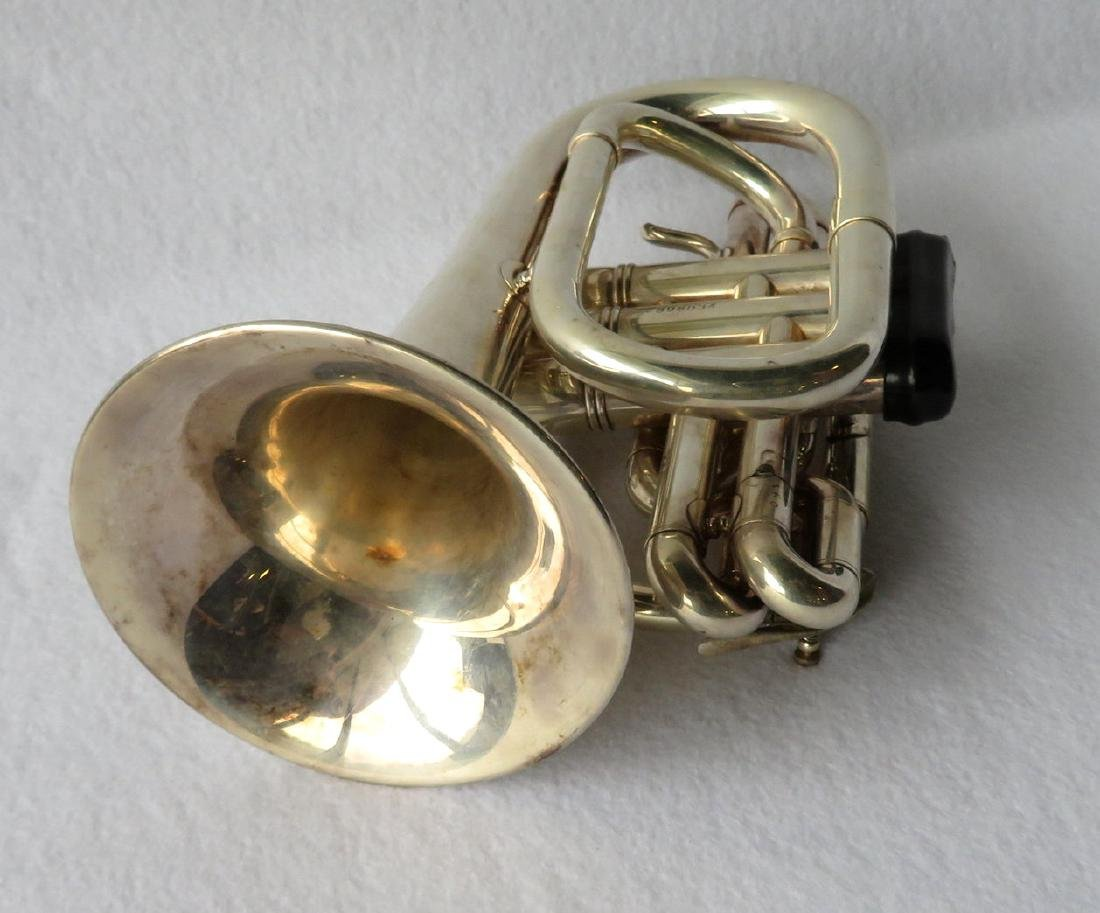 Pocket Trumpet - E. Benge - marked Resno-Tempered bell, - 3