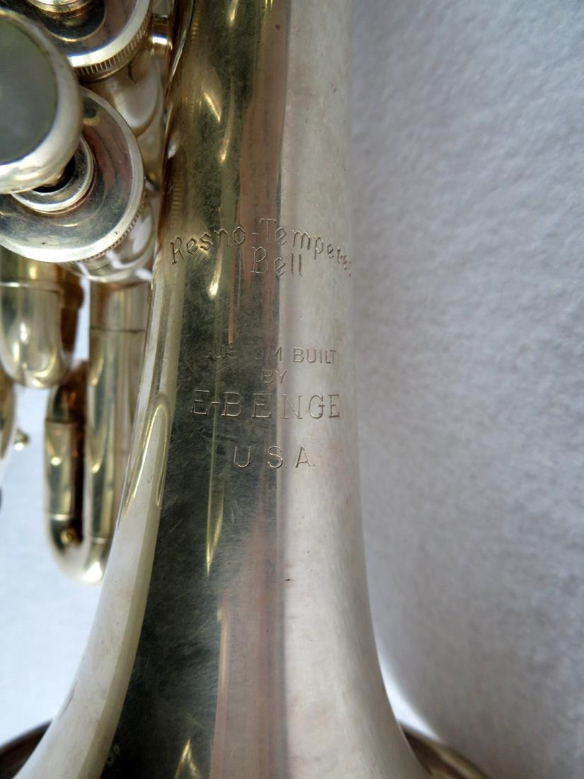 Pocket Trumpet - E. Benge - marked Resno-Tempered bell, - 5