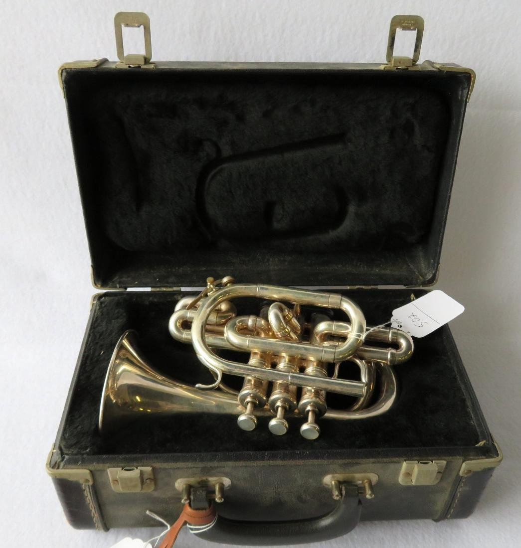 Pocket Trumpet - E. Benge - marked Resno-Tempered bell, - 7