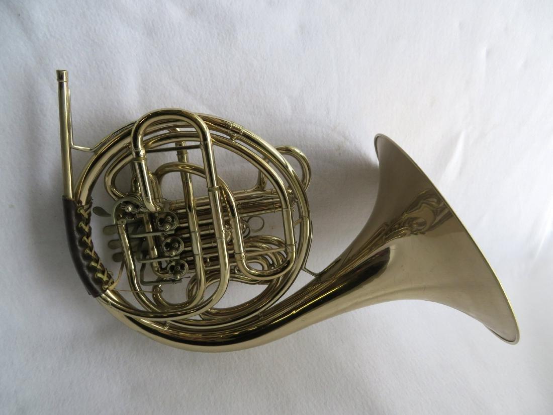 French horn -Signed C.G. Conn Ltd, USA. - full double - 3