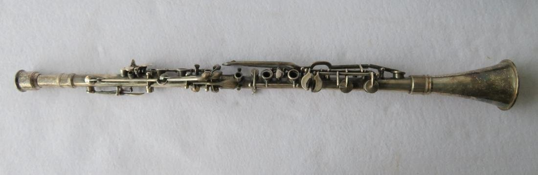 Clarinet - Silver plated signed  Guy Humphrey, Paris.