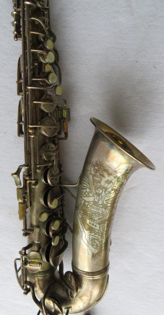 Alto Saxophone - signed C.G. Conn Ltd, Elkhart Ind - - 3