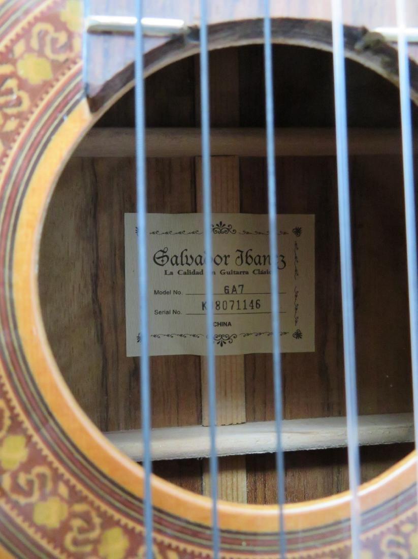 Classical Guitar - signed Salvador Ibanez, Model GA7. - 2