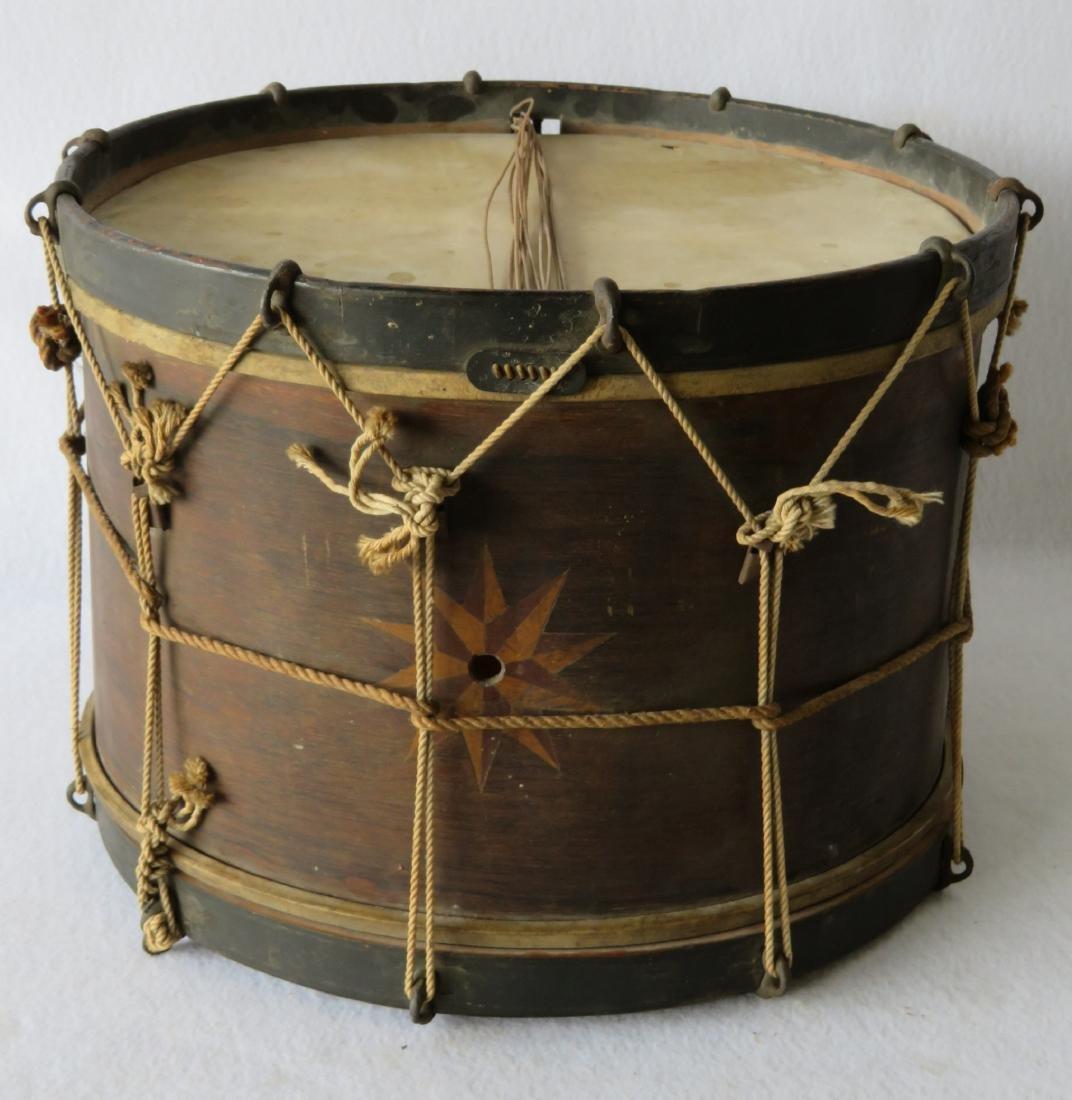 J. Howard Foote drum, 19th century with mariner's