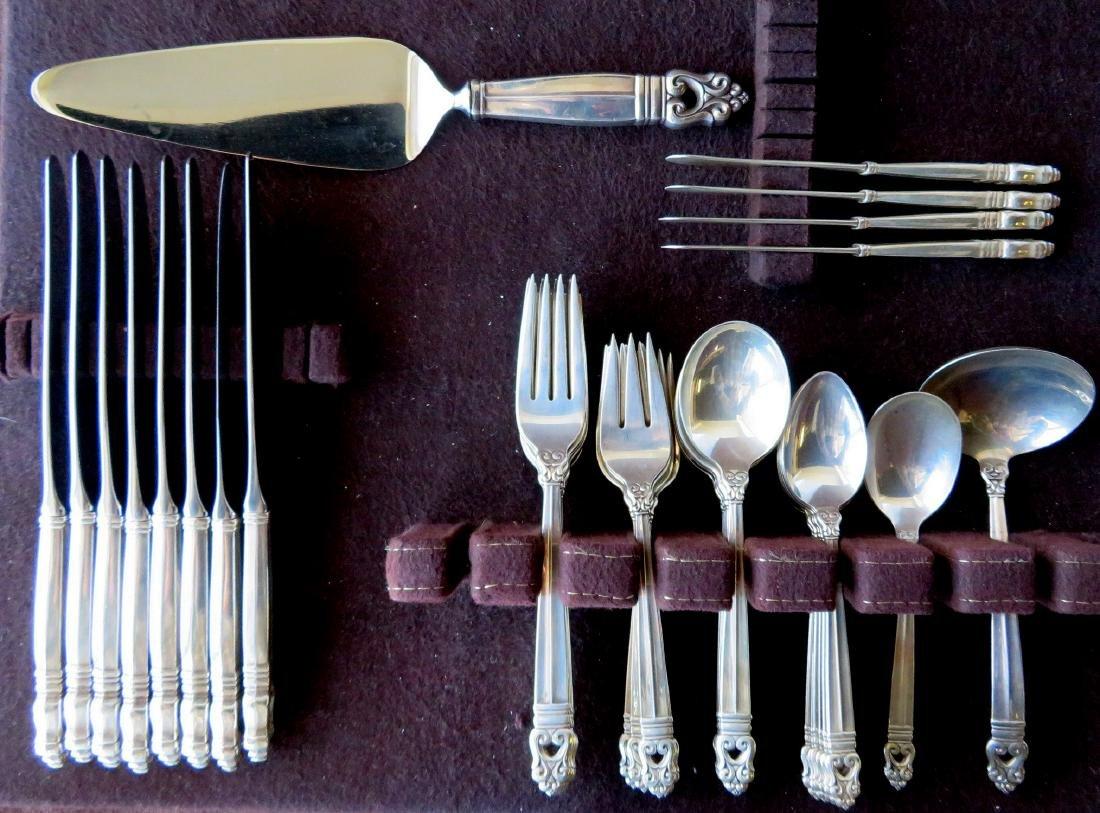 "International Sterling flatware set in ""Royal Danish"""