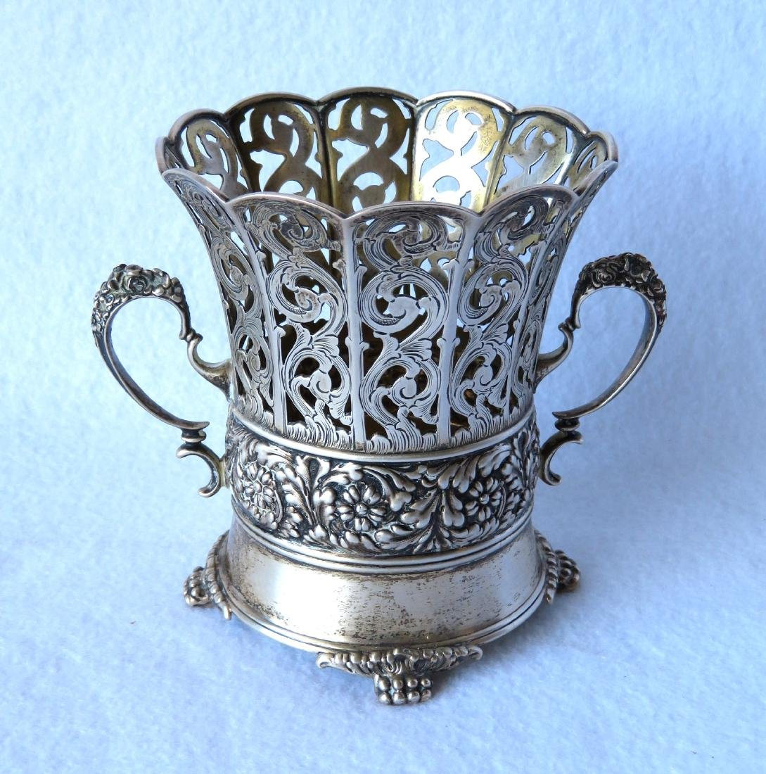 Fancy Tiffany & Co. Sterling double handle reticulated