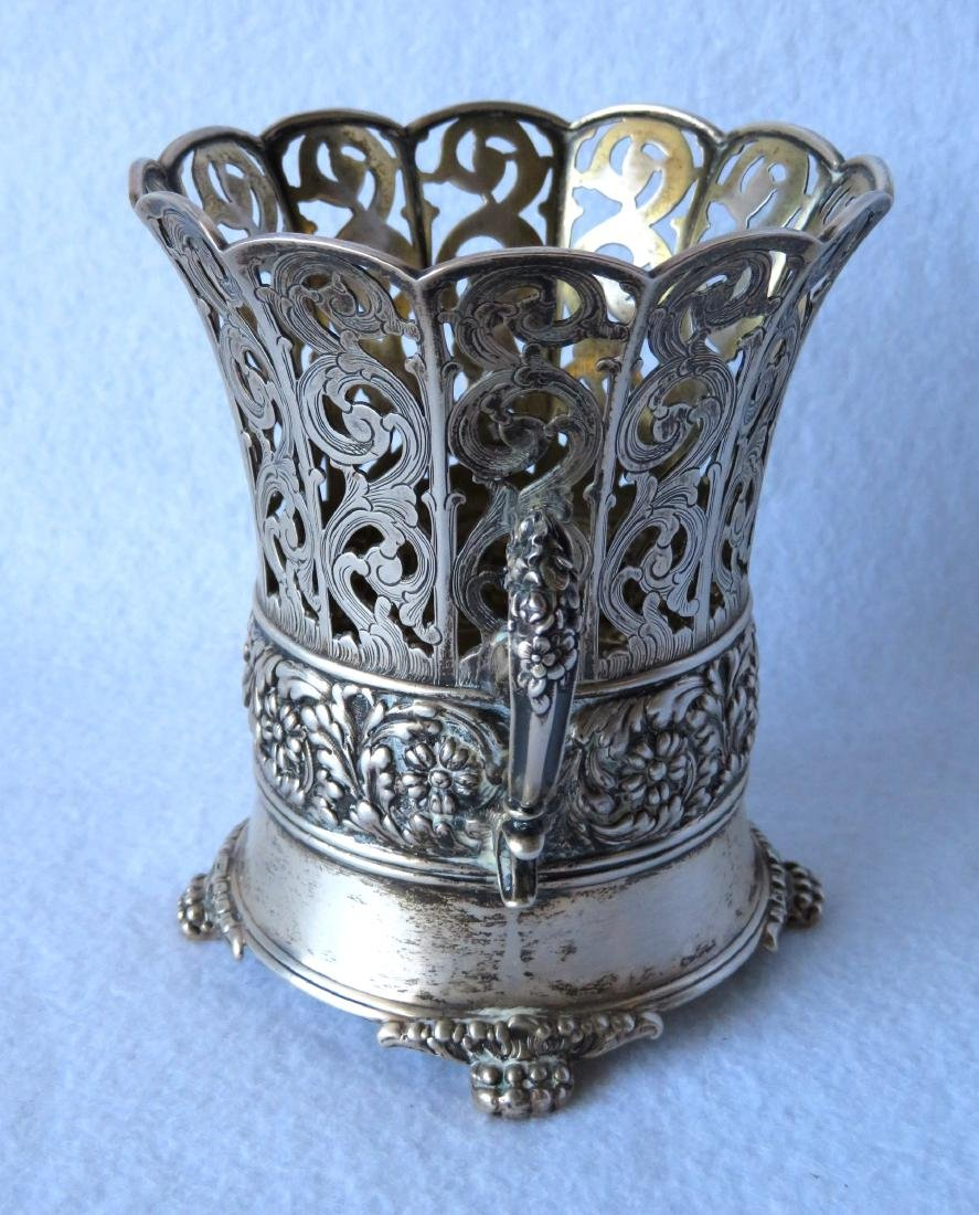 Fancy Tiffany & Co. Sterling double handle reticulated - 2