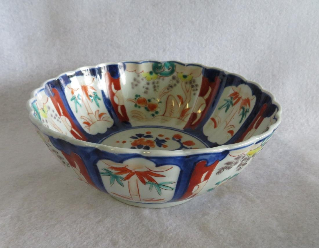 Grouping of 5 oriental porcelains including an Imari - 7