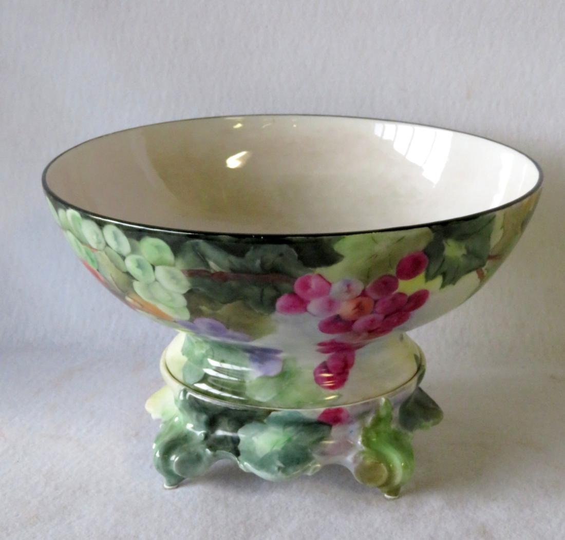 Limoges punch bowl on separate and matching pedestal -