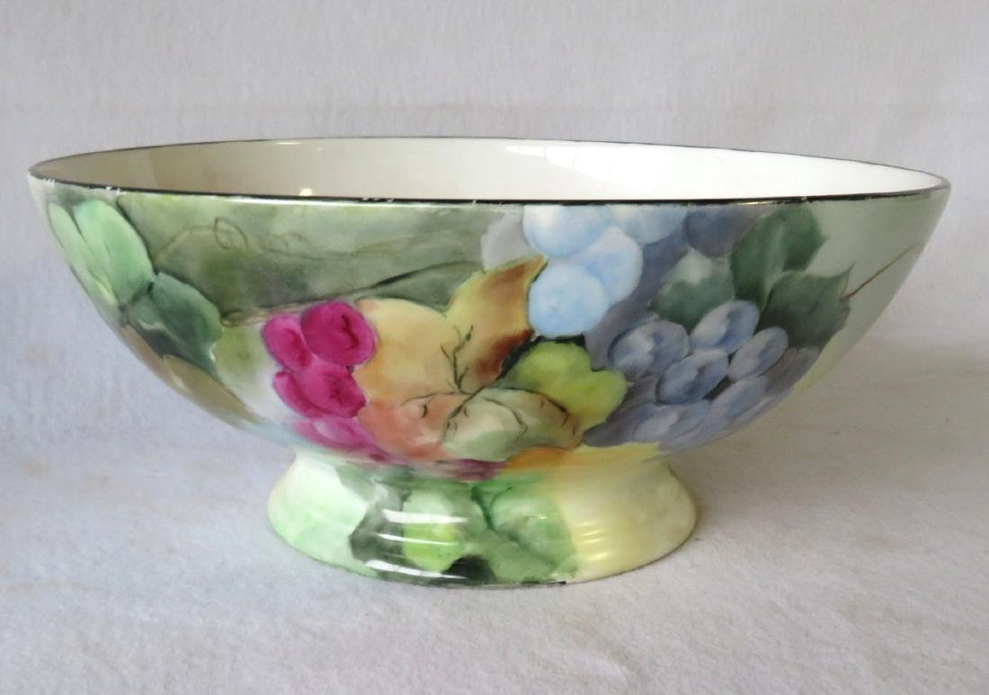 Limoges punch bowl on separate and matching pedestal - - 7