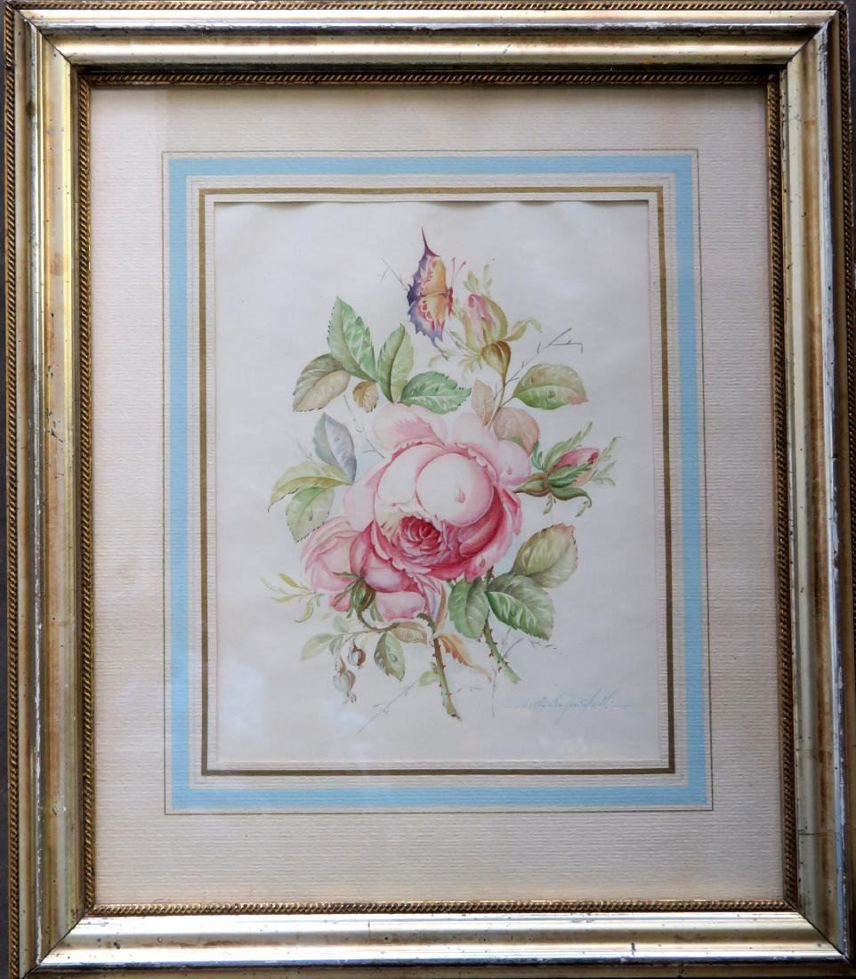 High quality W/C Still life of flowers, signed
