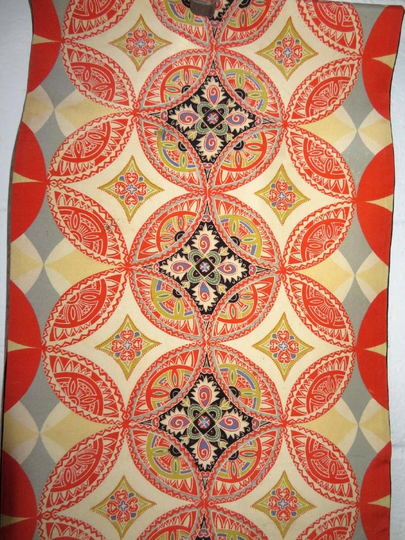 Two Japanese silk kimonos and 2 obi's. - 10