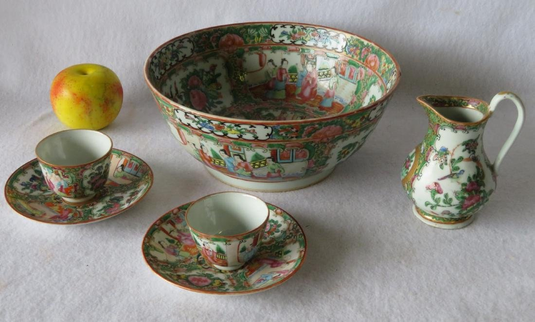 Grouping of 6 pieces of mostly Rose Medallion china