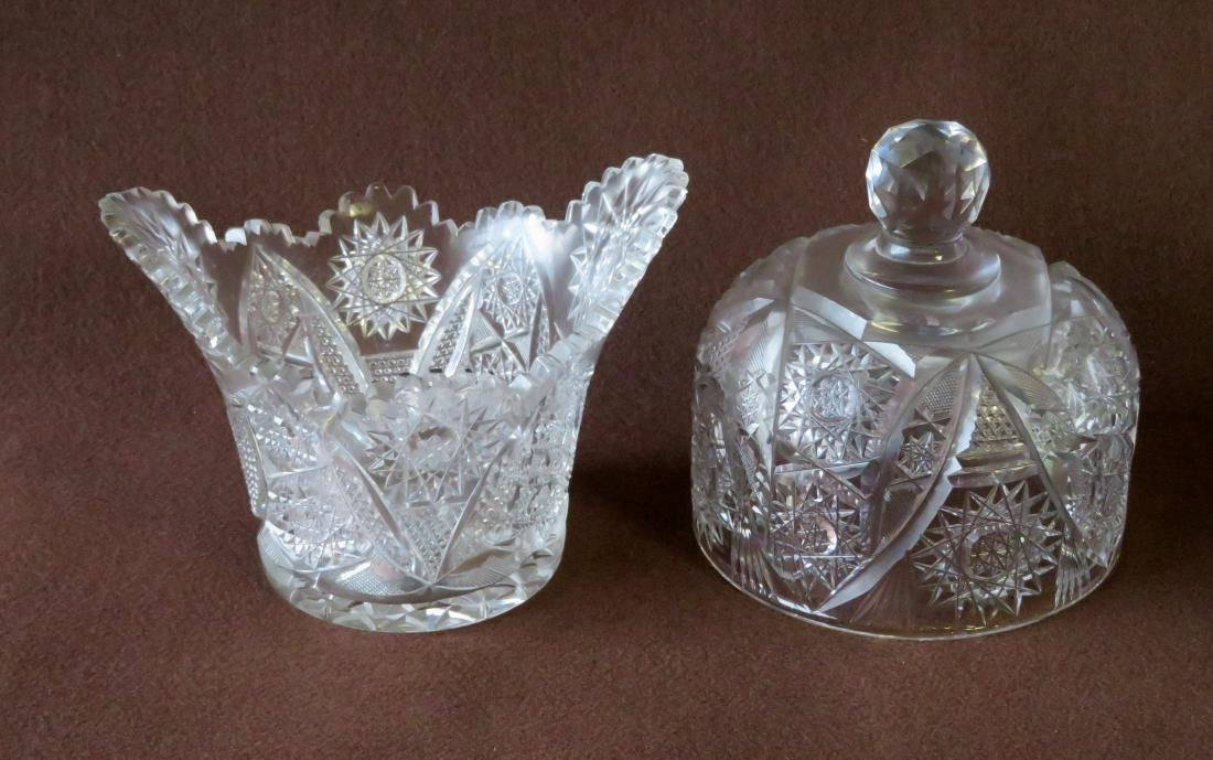 Grouping of 10 pieces of decorative glassware including - 2