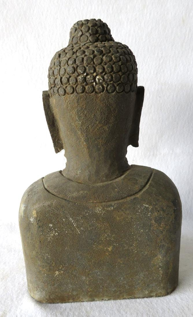 Stone sculpture of a Buddhist man - early to mid 20th - 3