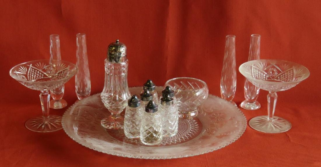 Grouping of 13 pieces of signed Waterford crystal